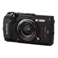 Digitale fotocameras - Olympus Tough TG-5 - Digitale camera - compact - 12.0 MP - 4K / 30 beelden per seconde - 4x optische zoom - Wi-Fi - onder water maximaal 15 meter - zwart - V104190BE00