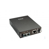 Transceivers en media converters - D-Link DMC 810SC - Glasvezel mediaconverter - GigE - 1000Base-LX, 1000Base-T - RJ-45 / SC enkele modus - maximaal 10 km - DMC-810SC/E