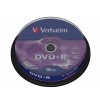 CD(R)W, DVD(R)W en blu-Ray - Verbatim DataLifePlus - 10 x DVD+R - 4.7 GB 16x - 43498