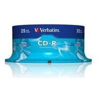 CD(R)W, DVD(R)W en blu-Ray - Verbatim CD-R Extra Protection - 25 x CD-R - 700 MB 52x - spindel - 43432