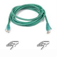 Netwerk kabels - Belkin Cable/patch CAT5 RJ45 snagless 3m green - A3L791B03M-GRNS