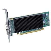 VGA kaarten - Matrox M9148 1GB DDR2 PCIe x16 LowProfile 4x mini-DisplayPort to 4xDisplayPort / 4x DVI - 2560x1600 fanless - M9148-E1024LAF
