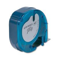 Label printers - Esselte DYMO LetraTAG - Plastic - zwart op geel - Rol (1,2 cm x 4 m) 1 rol(len) tape - voor LetraTag LT-100H, LT-100T - S0721620