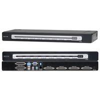 KVM switches - Belkin KVM PRO3 4 PORTS USB & PS2 & USB IN/OUT - F1DA104ZEA