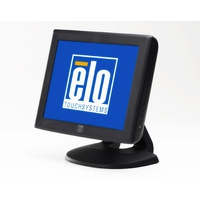 Touch screen monitoren - Elo Touch Solution Elo 1215L, 30.5 cm (12), AT, donkergrijs touch monitor (4:3), 30.5 cm (12), AccuTouch, 800x600 pixels, VESA mount, 35ms, helderheid: 164cd, kijkhoek: 140/100°(H/V), contrast: 500:1, VGA, touch interface: USB, RS232, kabel (USB, RS232, VGA), netsnoer (EU) - E432532