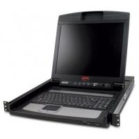 "Rack monitor consoles - APC LCD Console - KVM-console - 17"" - bevestigbaar in rack - 1280 x 1024 - zwart - 1U - AP5717"