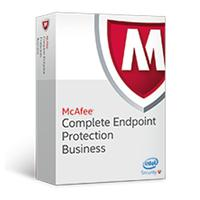 Antivirus en beveiliging - McAfee Complete EndPoint Protection - Business - ProtectPLUS Perpetual License met 1 jaar Gold Software Support - 101 t/m250 - CEBCDE-BA-DG