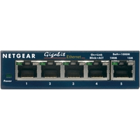 Hubs en switches - Netgear GS105GE 5 poorts switch - GS105GE