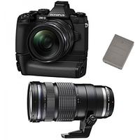 Digitale fotocameras - Olympus E-M1 Body 16 Mpix Zwart Kit Incl. EZ-M1240 PRO Zwart - V207017BE030