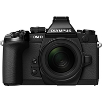 Digitale fotocameras - Olympus E-M1 Body 16 Mpix Zwart Kit Incl. EZ-M1250 Zwart - V207015BE000