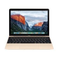 "Notebooks - Apple MacBook - Core m3 1.1 GHz - OS X 10.12 Sierra - 8 GB RAM - 256 GB flash opslag - 12"" IPS 2304 x 1440 - HD Graphics 515 - Wi-Fi - goud - tsb Nederlands QWERTY - MLHE2N/A"