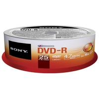 CD(R)W, DVD(R)W en blu-Ray - Sony DVD-R 4.7GB 25-SPINDLE 16X - 25DMR47SP